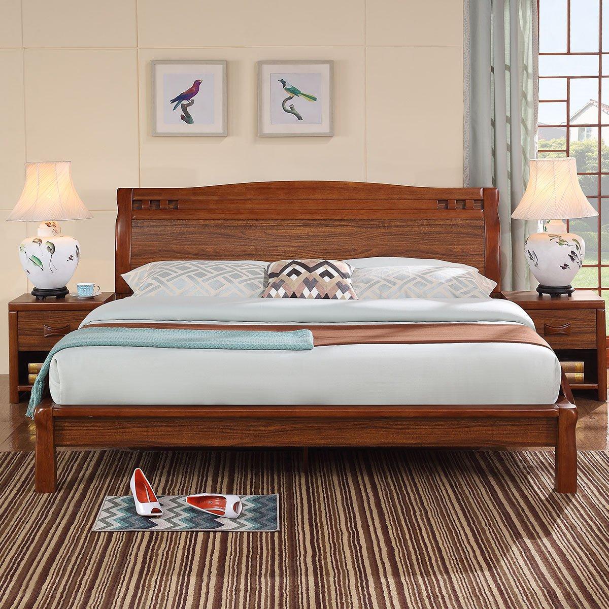 全友家居木床 全友实木床表-元珍商城