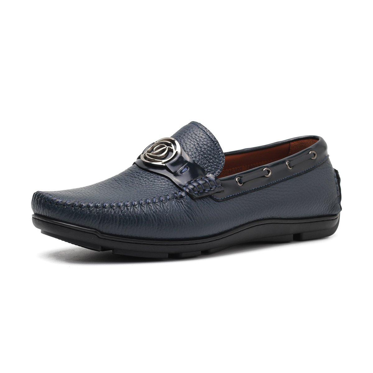 都彭都彭 男士时尚扣套脚牛皮休闲鞋开车鞋皮鞋G22246307801