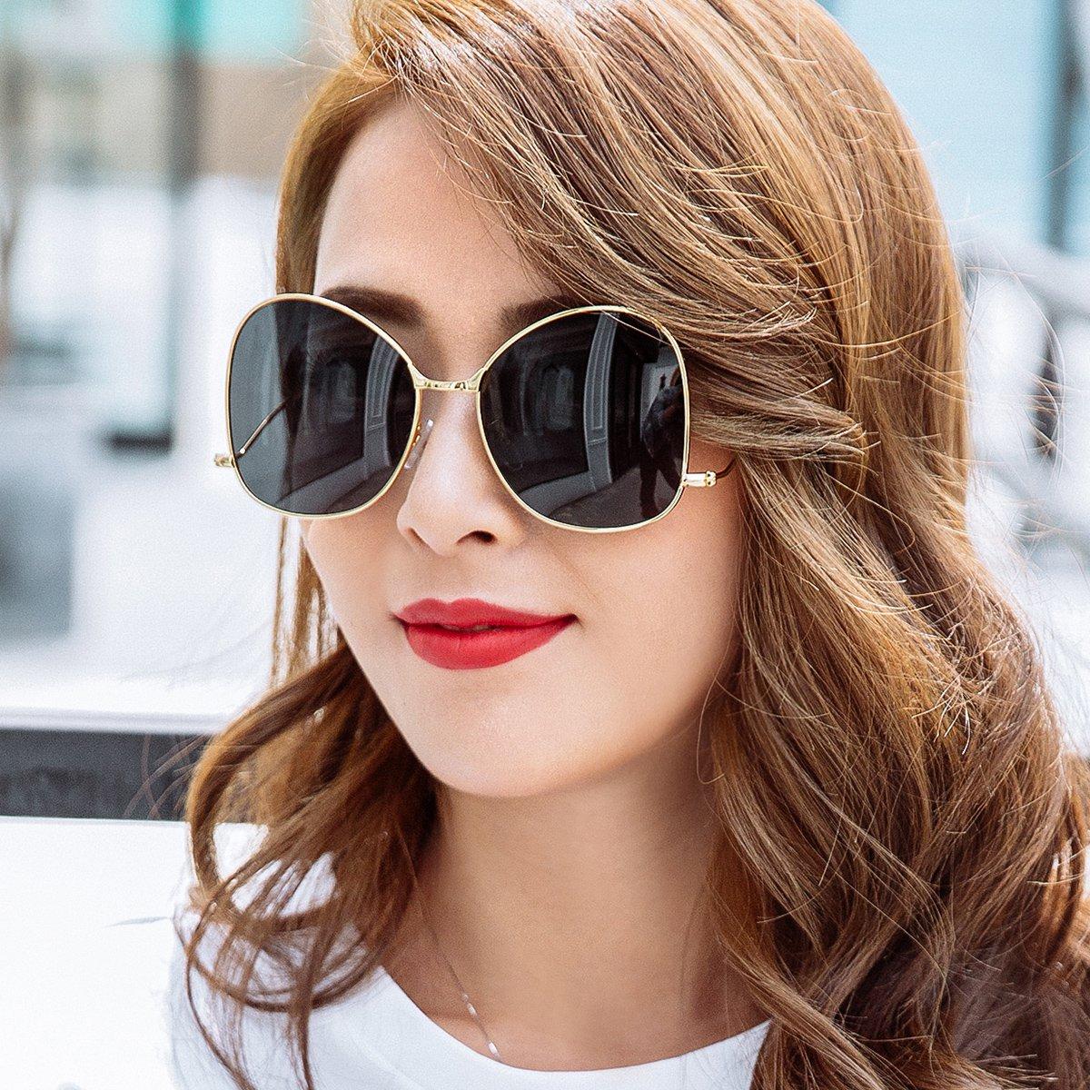 2019新品抖音同款偏光情侶太陽鏡休閑顯臉瘦百搭眼鏡潮流墨鏡圖片