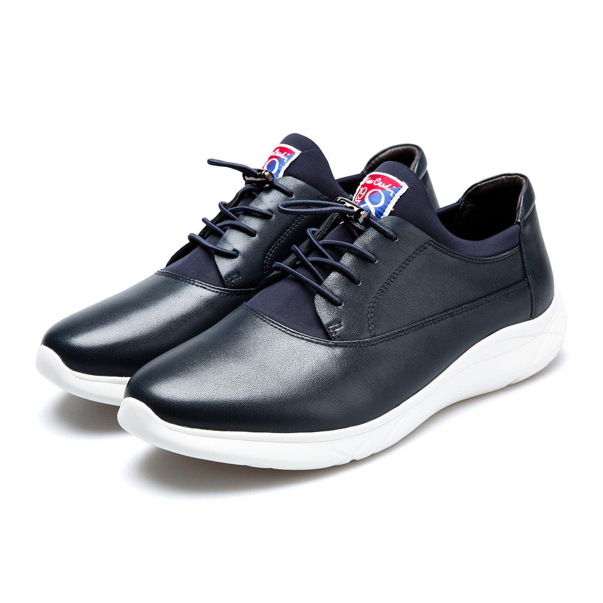 皮尔·卡丹头层牛皮轻底百搭舒适运动鞋男板鞋男鞋男士休闲鞋D8301M190218F05