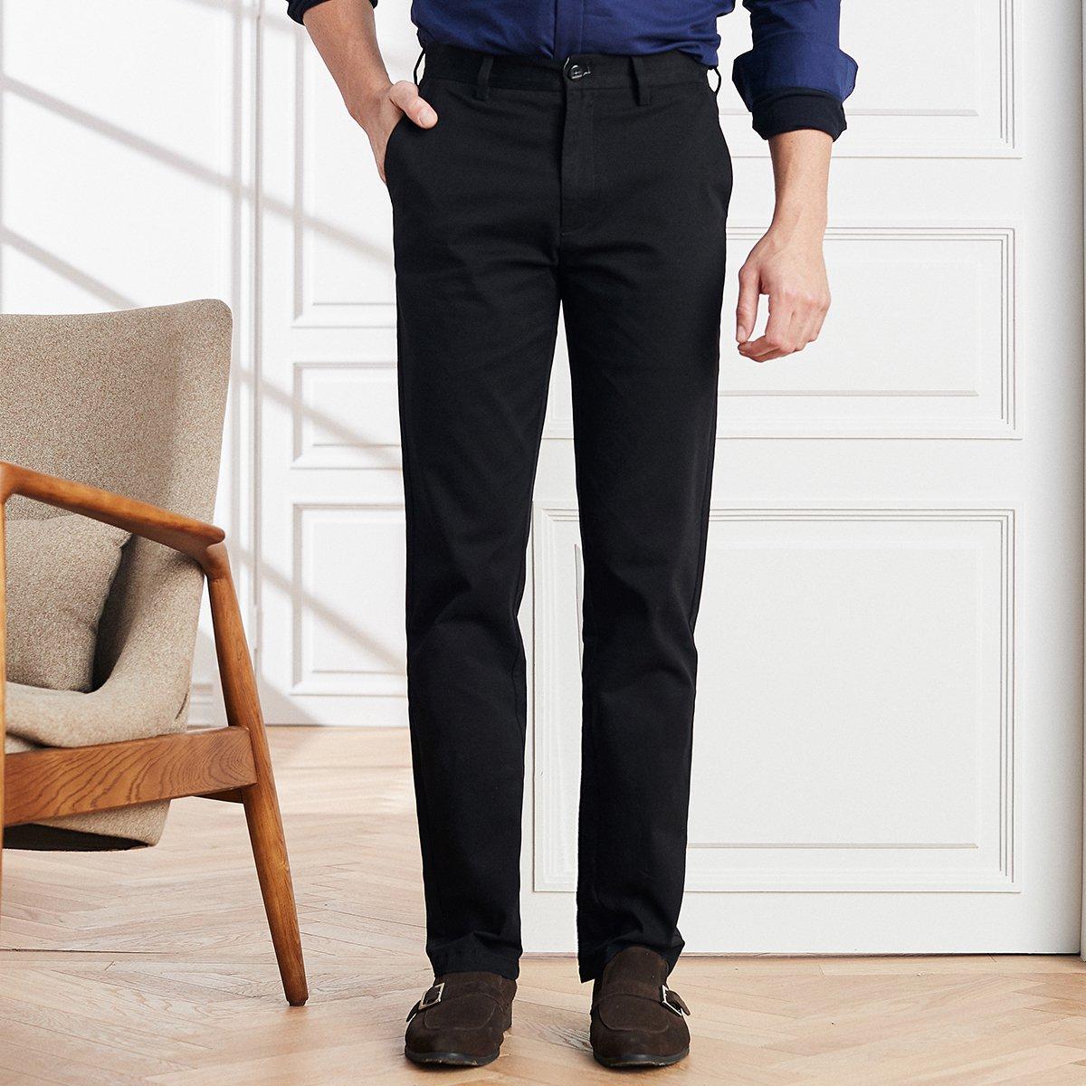 杉杉弹力棉斜纹男款商务休闲直筒长裤男士休闲裤TFK7303217-1