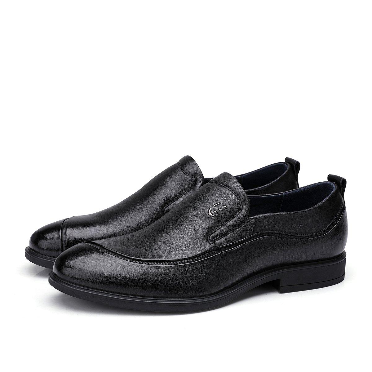 骆驼皮鞋男 商务正装鞋英简约时尚舒适防滑牛皮鞋德比鞋80821877832050HE