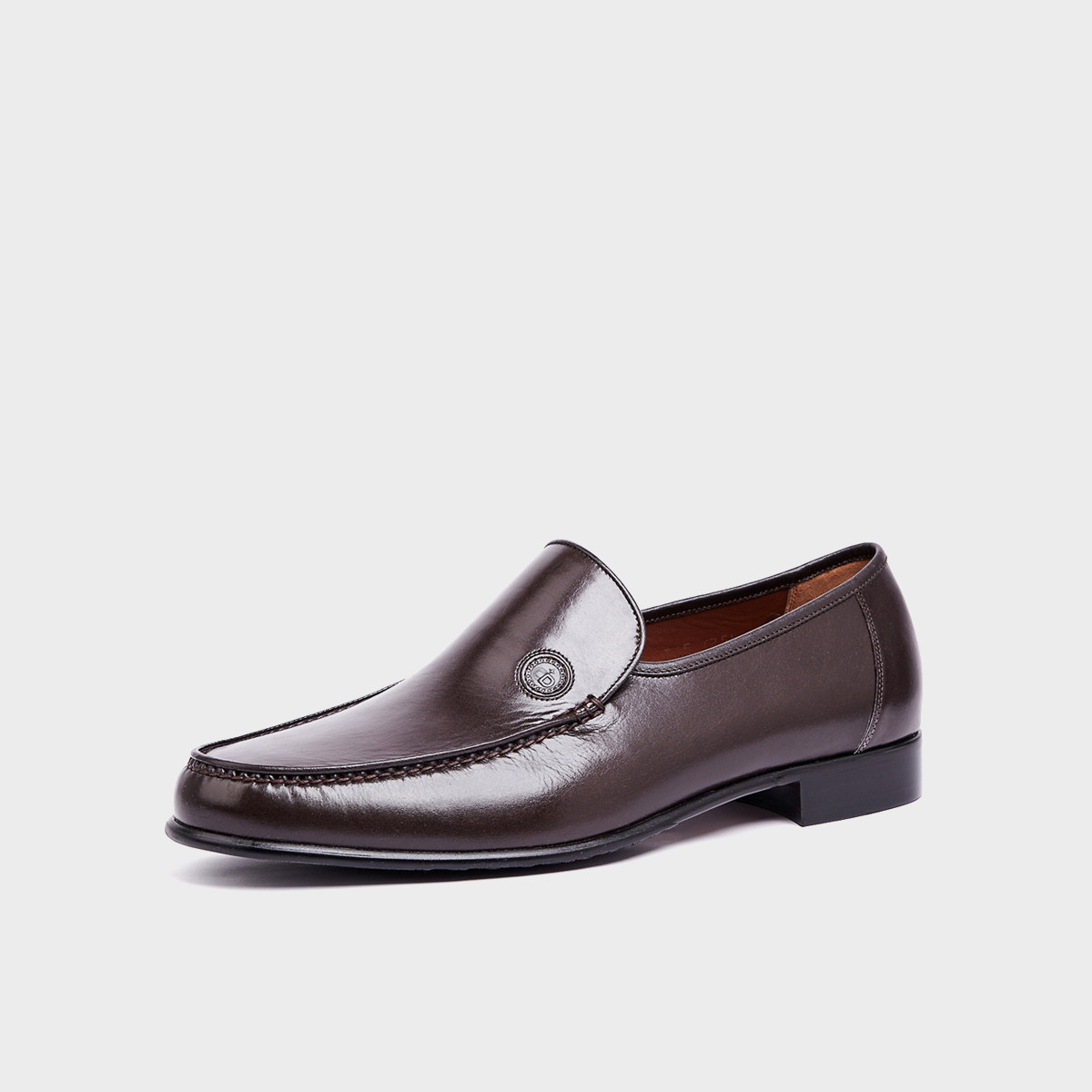克雷斯丹尼【皮底】意大利珍贵袋鼠皮套脚商务鞋轻便透气爸爸鞋男士皮鞋56G03B1