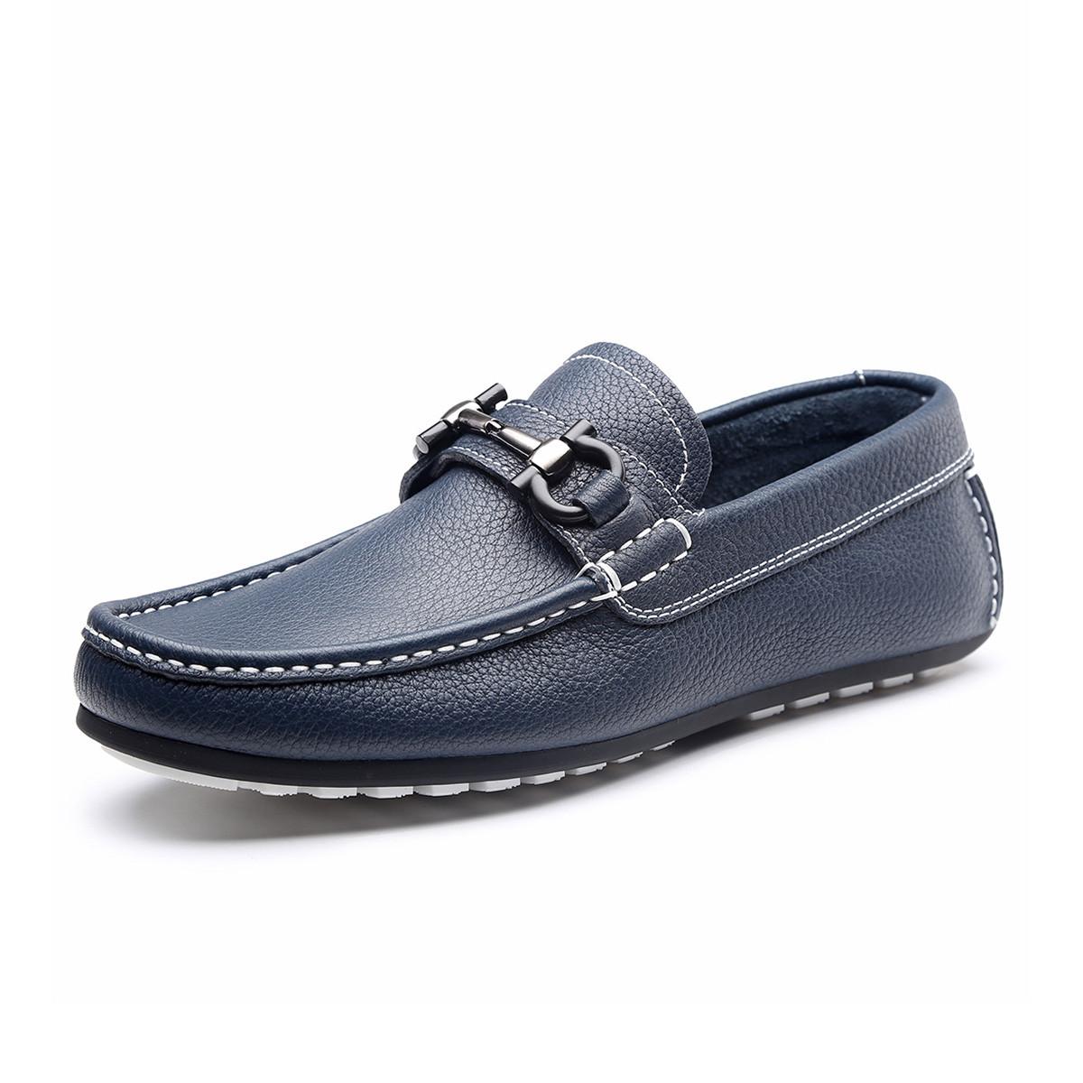 ELLE HOMME商务休闲套脚一脚蹬驾车鞋轻便舒适豆豆鞋司机男士鞋子HKD98185406