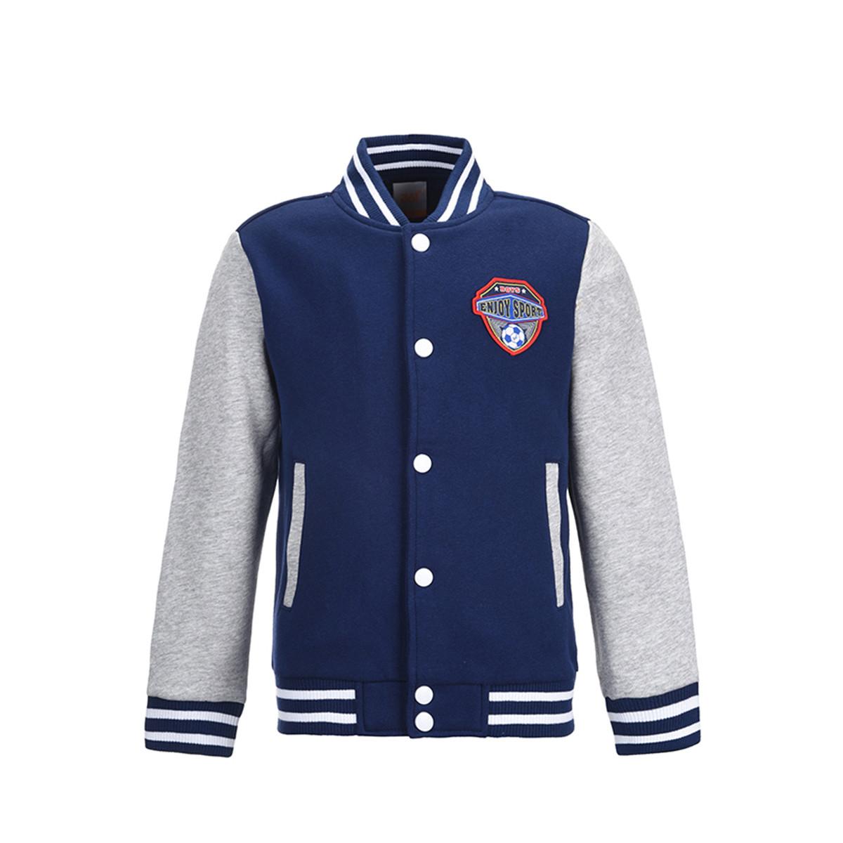 361°361儿童男童舒适百搭针织外套棒球服运动外套开衫易穿脱K564420413400