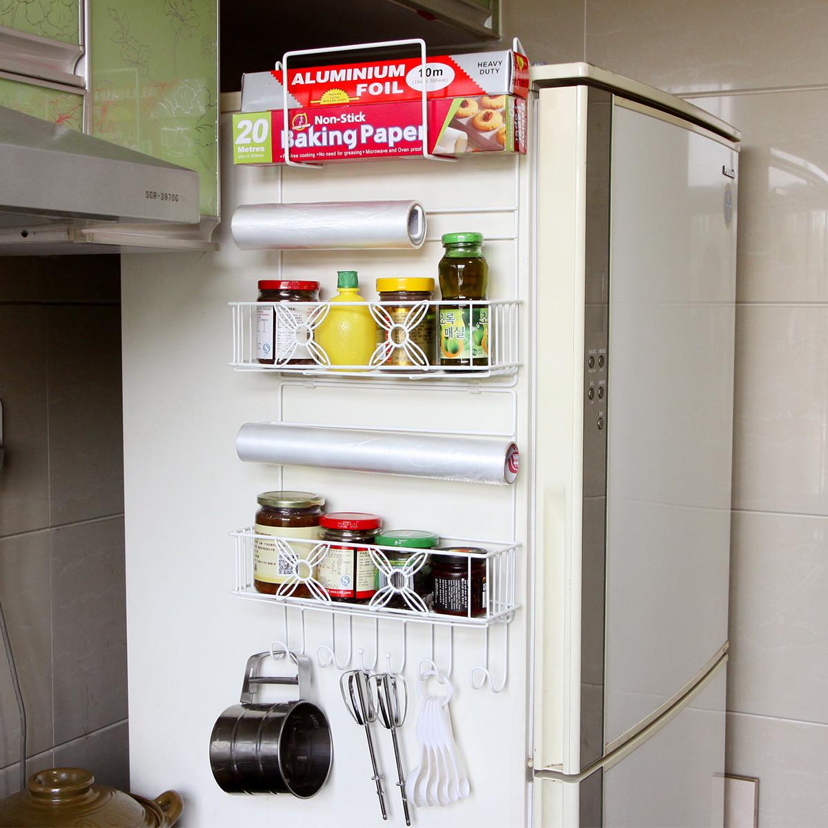 多功能厨房挂置物架_冰箱挂架侧壁挂件厨房置物架收