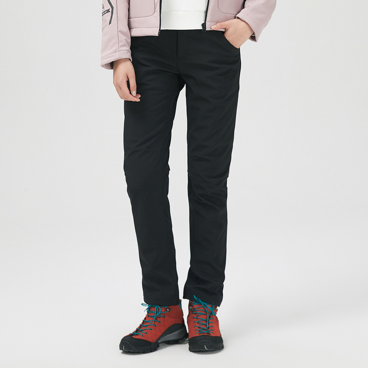 龙狮戴尔龙狮戴尔[2019春季新品]防泼水保暖 女款软壳裤加厚运动裤2363341530005
