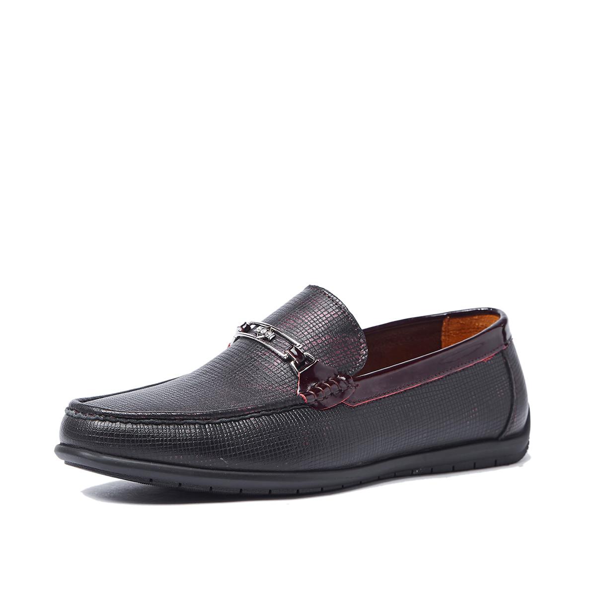 迪宝·阿治奥2019新品 蜥蜴纹牛皮一脚蹬男鞋商务男鞋男士皮鞋DJ1A2591251D
