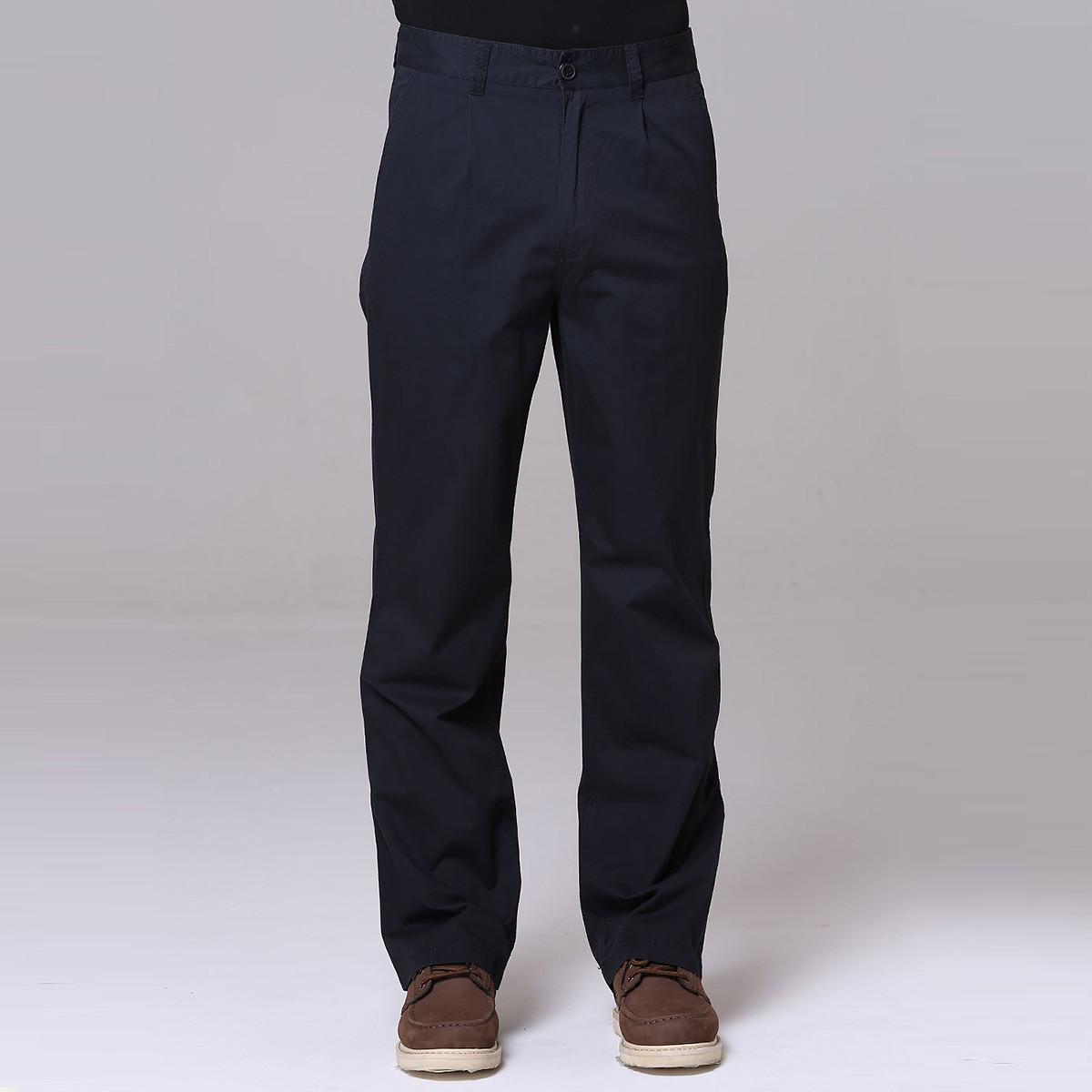 JEEPJEEP休闲透气全棉舒适无摺基本款男款休闲裤JS12WP102K9
