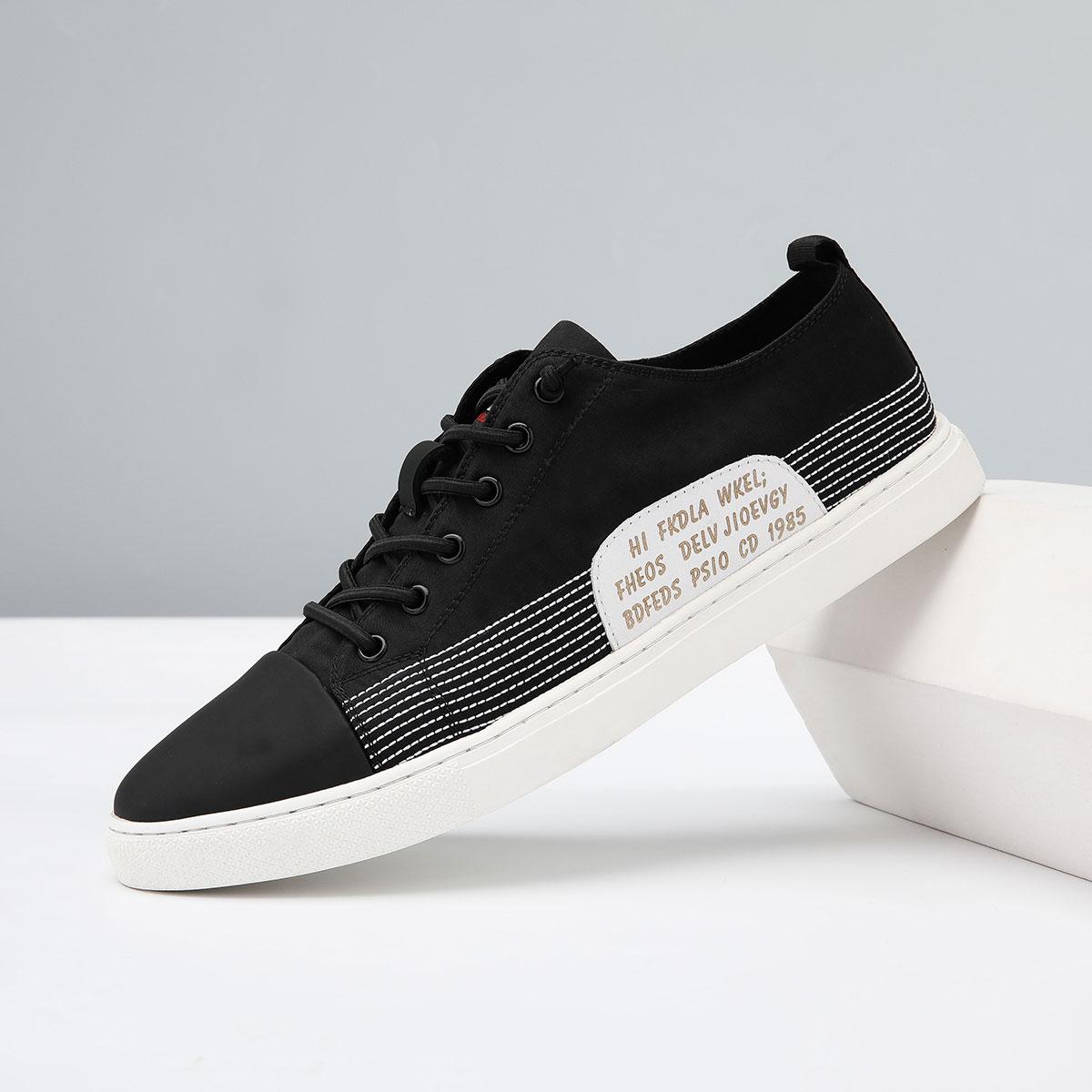 QGSG新款透气潮鞋韩版低帮学生帆布鞋时尚男鞋舒适男士休闲鞋男款板鞋Q9C25006-A1