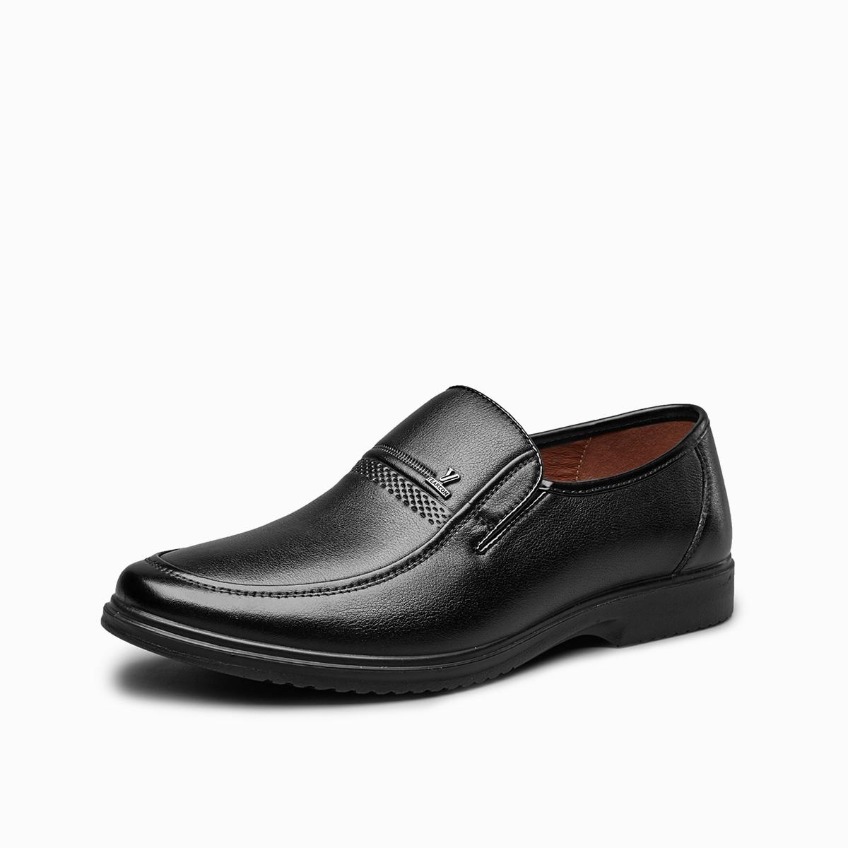 意尔康意尔康牛皮革便捷套脚一脚爸爸鞋皮鞋男士商务鞋男鞋7641AE97283W-10