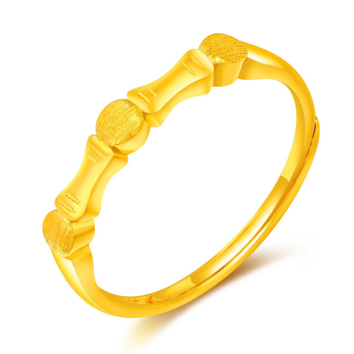 翠绿翠绿 5G黄金 足金节节高女士黄金戒指(计价)A01000021364