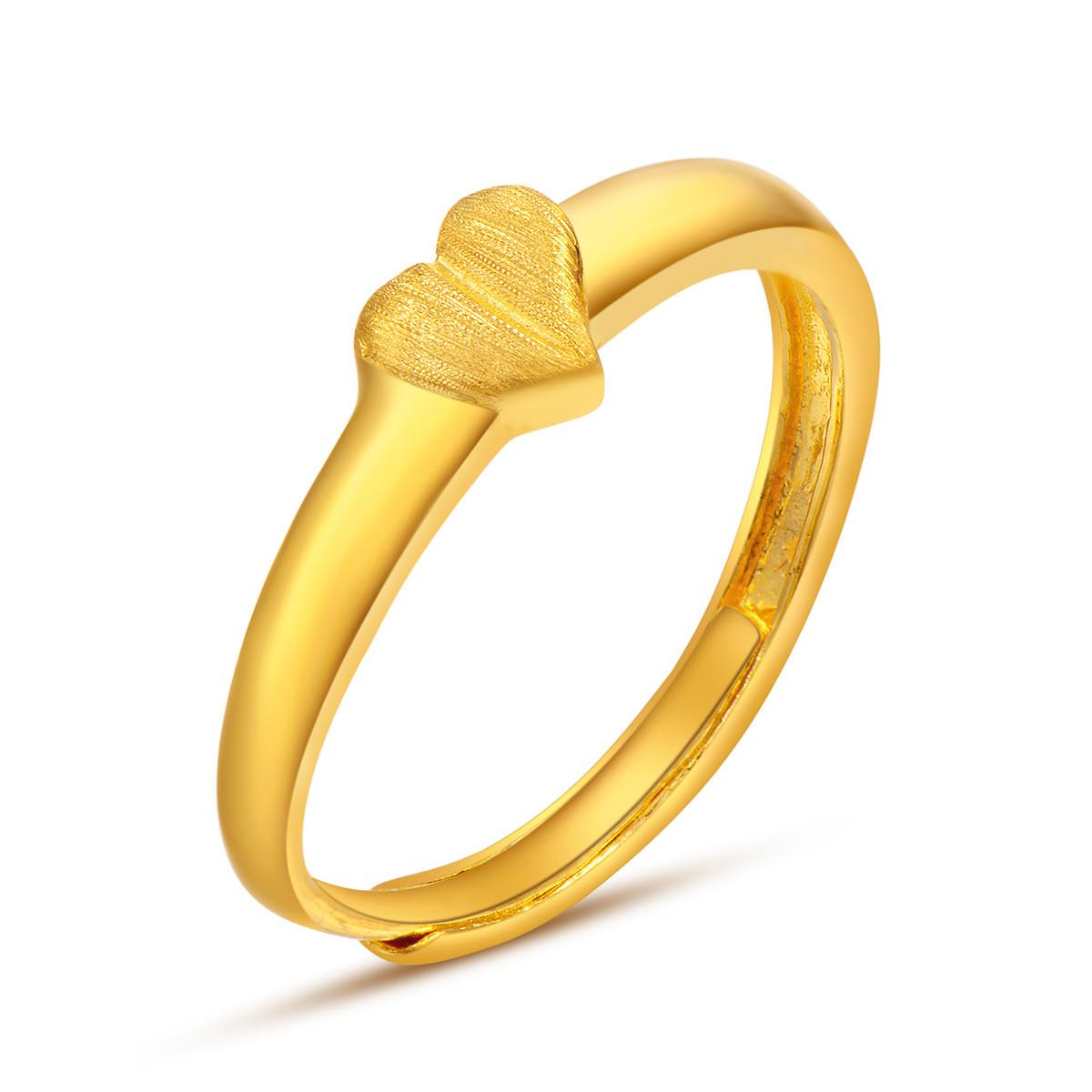 中国黄金足金黄金戒指女爱你不简单戒指足金女戒计价ZGHJJZ2338