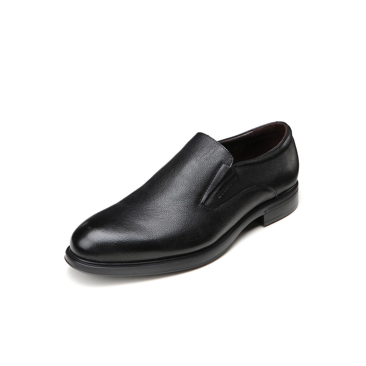 BOSSSUNWEN牛皮超轻一脚蹬皮鞋男士商务皮鞋男皮鞋男鞋男士皮鞋男鞋Q68DB7008A
