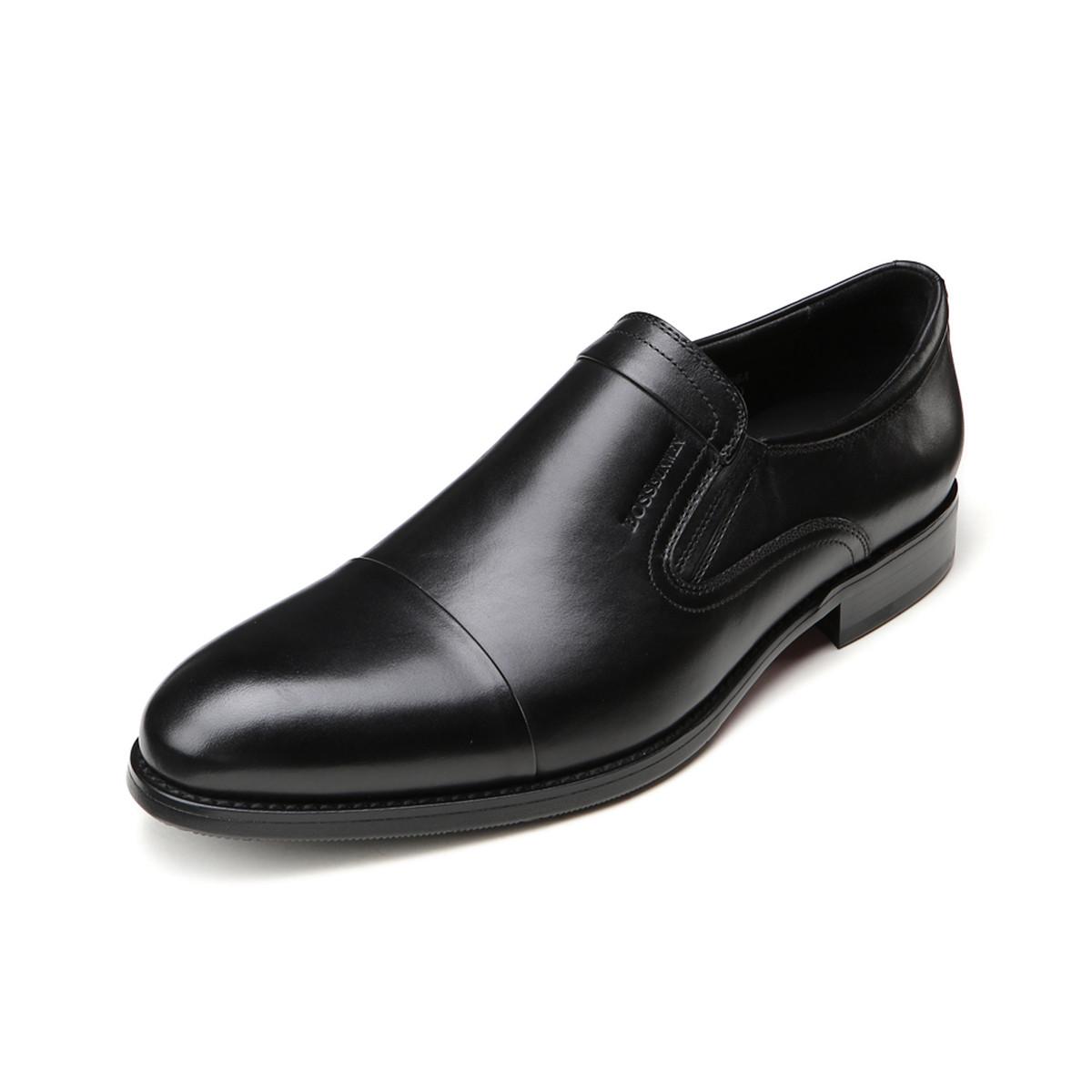 BOSSSUNWEN牛皮一脚蹬男鞋男士商务皮鞋男皮鞋男鞋男士皮鞋男鞋R31DB0406A