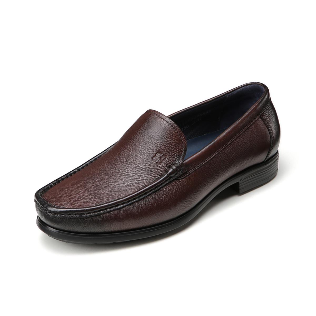 BOSSSUNWEN牛皮超轻一脚蹬男款男士商务皮鞋男皮鞋男鞋31811012276435