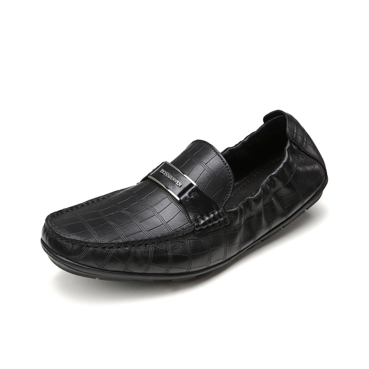 BOSSSUNWEN牛皮轻便柔软男款男士商务皮鞋男皮鞋男鞋31811012466791
