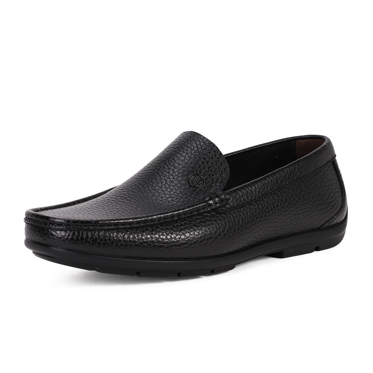 ELLE HOMME新款真皮百搭懒人一脚蹬男鞋男士休闲皮鞋男豆豆鞋男鞋HKD58197600