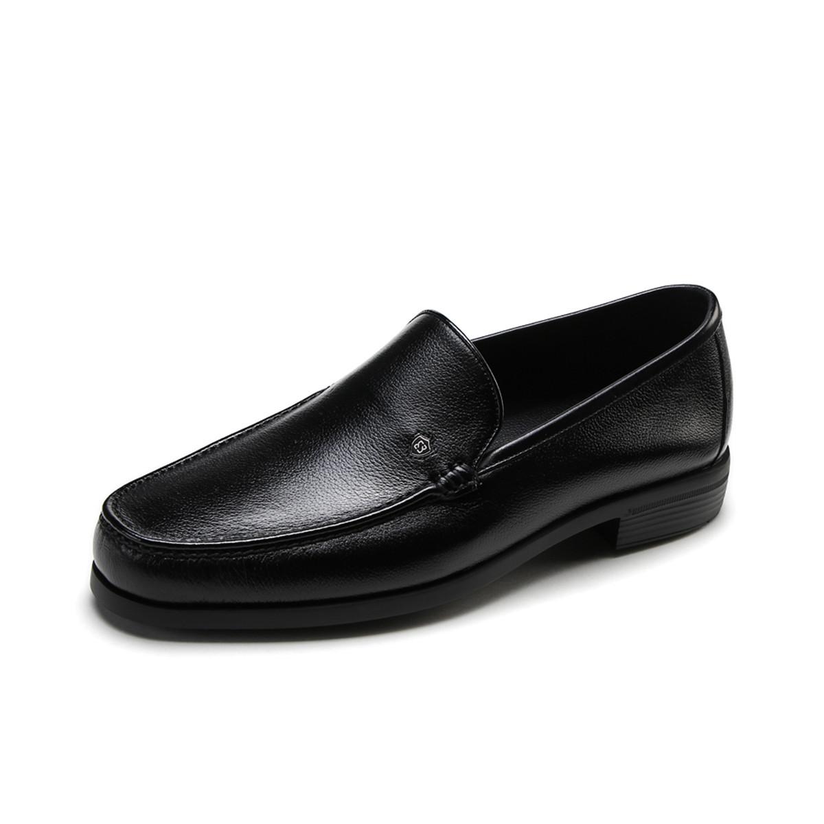 BOSSSUNWEN秋季新品牛皮一脚蹬男款男士商务皮鞋男皮鞋男鞋男士男鞋31811010006691