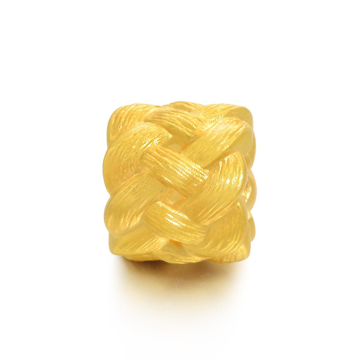 周生生周生生足金手链串珠长寿绳结手链黄金转运珠(配绳需另购)B86336p如图