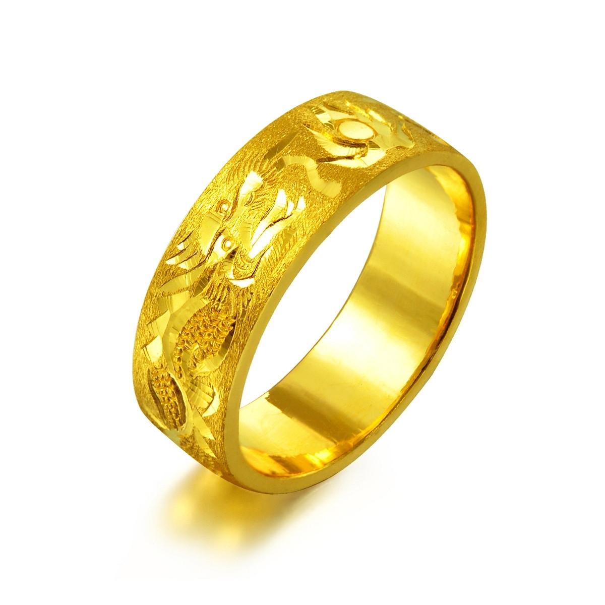 周生生周生生黄金双龙献珠戒指B28481r如图