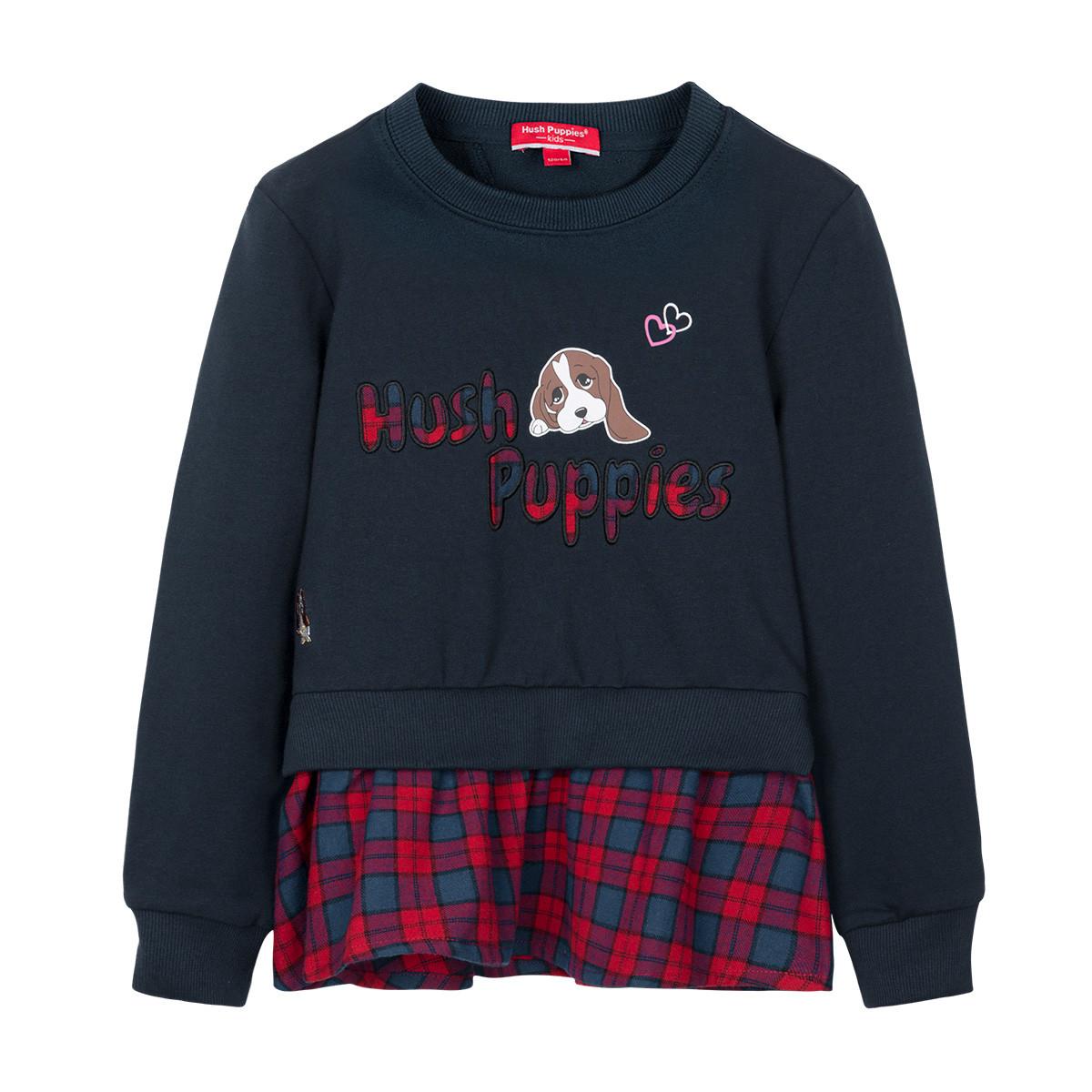 暇步士暇步士童装2019年秋季新款女童卫衣假两件裙式卫衣HPNQGD26CQ629B09