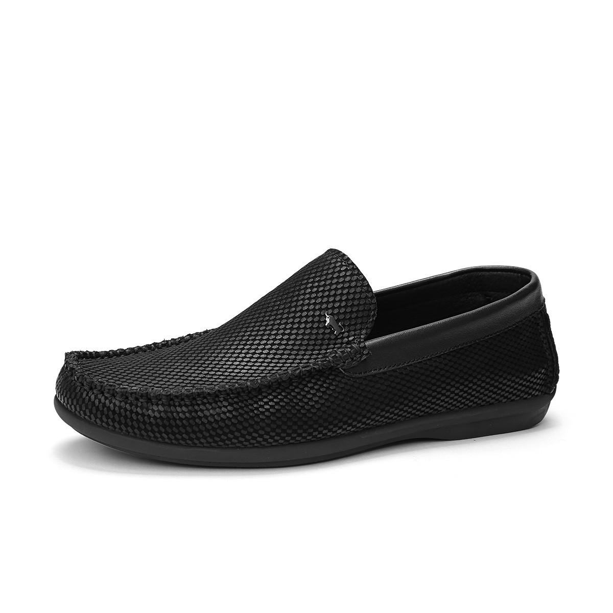 布兰施2019年新品牛皮圆头套脚男士休闲皮鞋男鞋皮鞋男士皮鞋B214199243