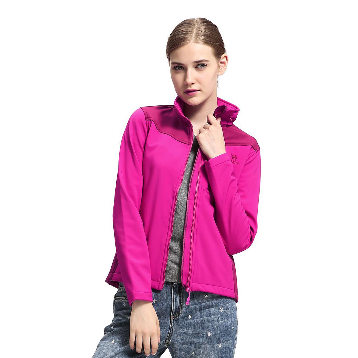 骆驼骆驼户外时尚女款软壳衣外套女 开衫外套 女装户外运动服03A6W0149125900
