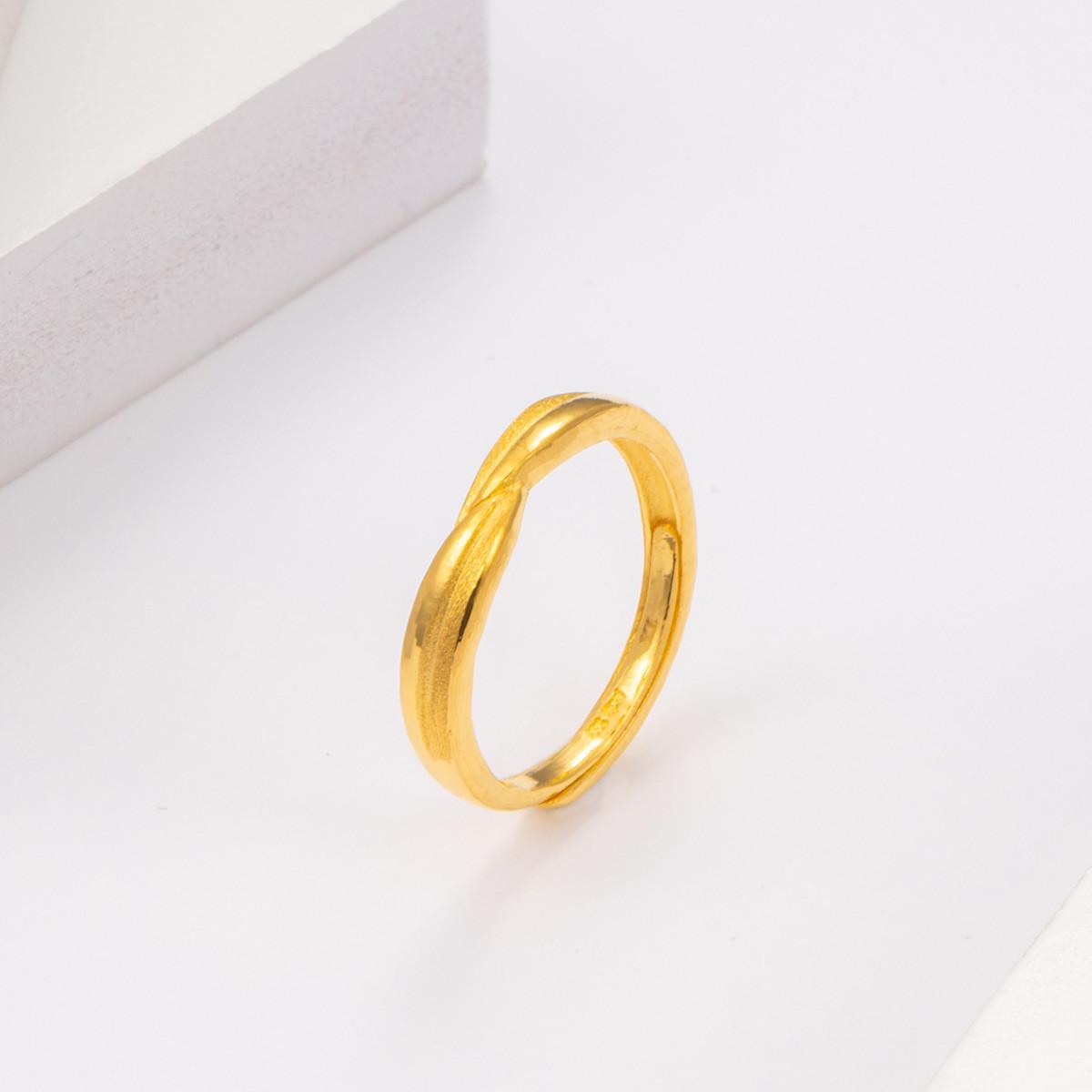 中国黄金足金戒指女士黄金戒指遇见你的那天起戒指精品计价ZGHJJZ2350