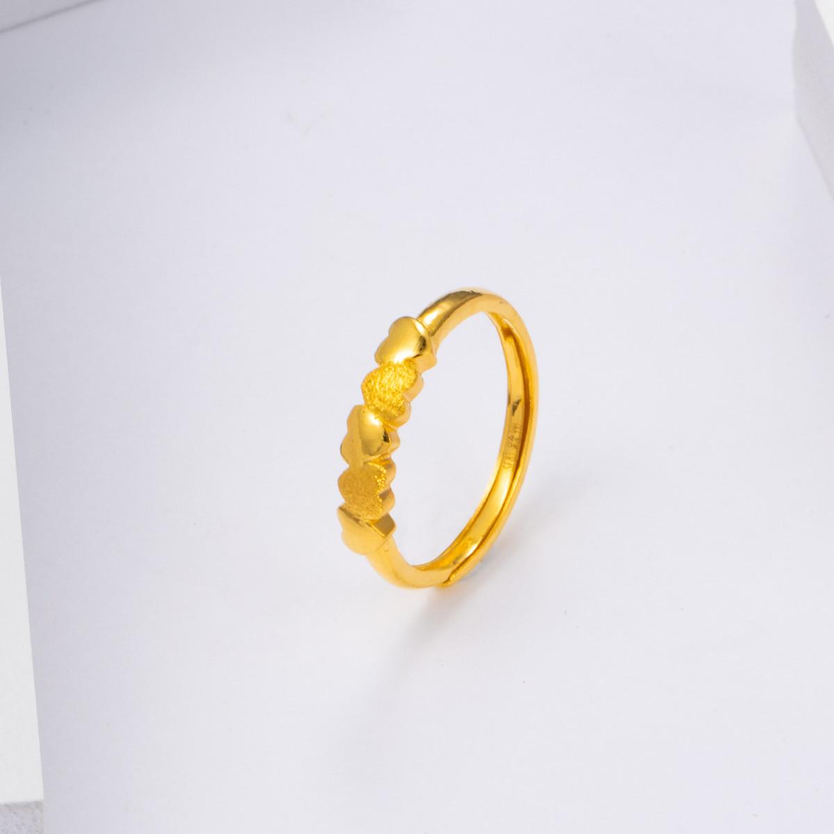 中国黄金足金戒指女士黄金戒指星空约定黄金戒指精品计价ZGHJJZ2353