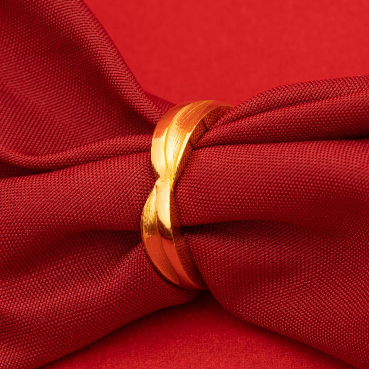 中国黄金足金黄金戒指遇见的那天戒指珠宝黄金首饰精品计价ZGHJJZ2351