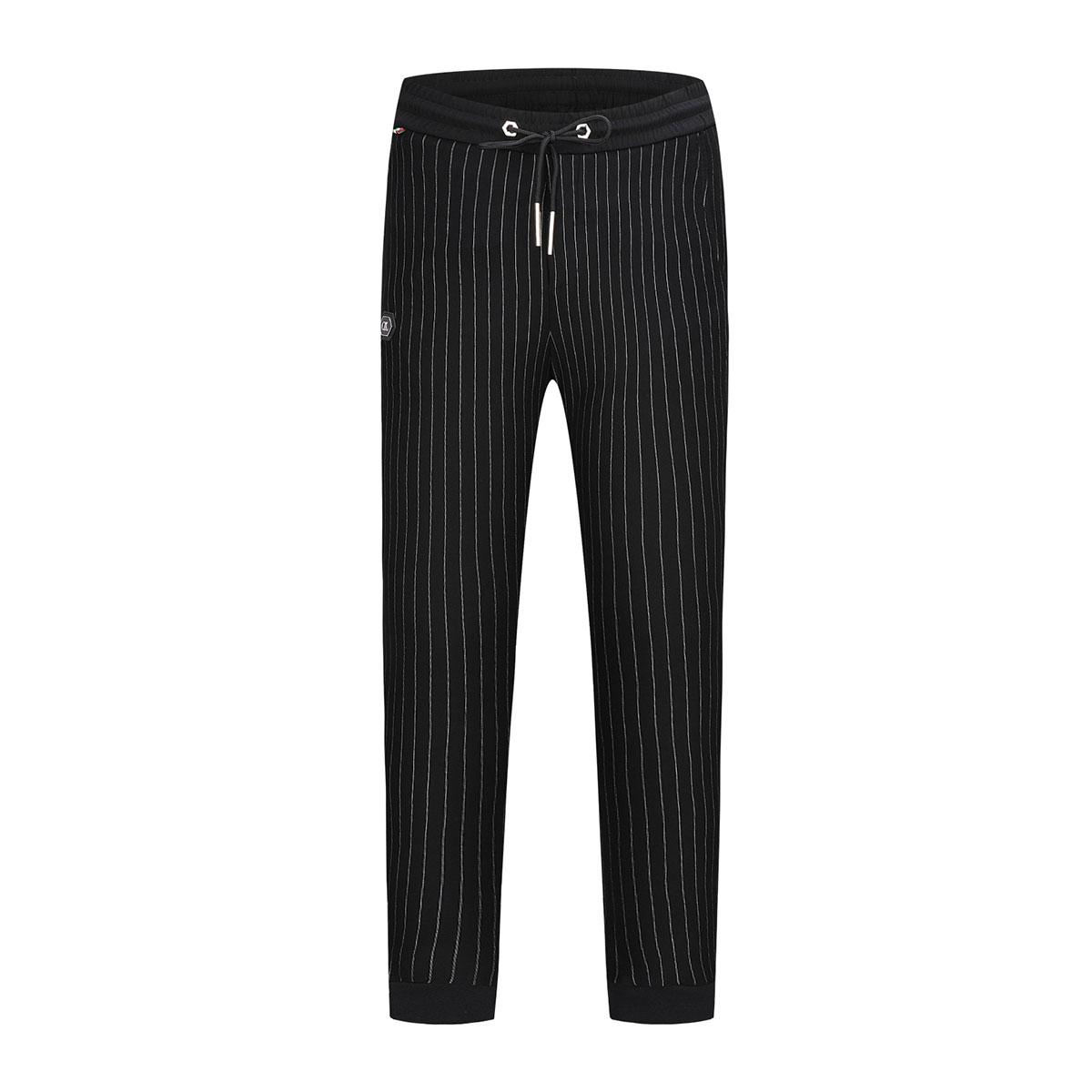 卡里亚尼CALIANI男式条纹修身系带休闲裤CXK16130309-01