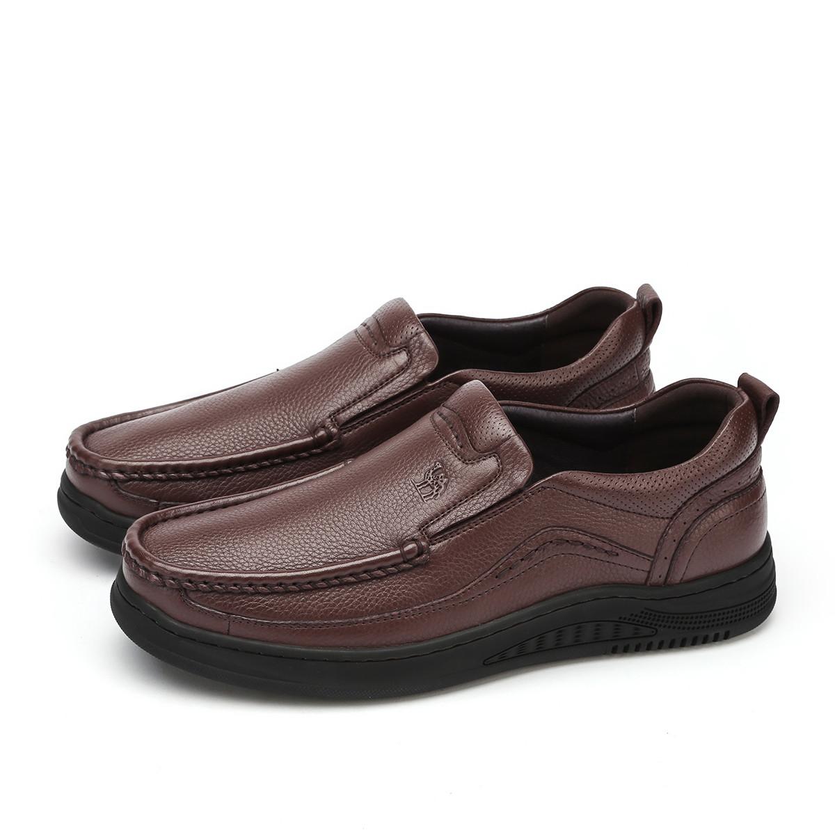 骆驼男款商务休闲鞋乐福鞋防滑吸汗英伦复古套脚鞋90820617932760AZ