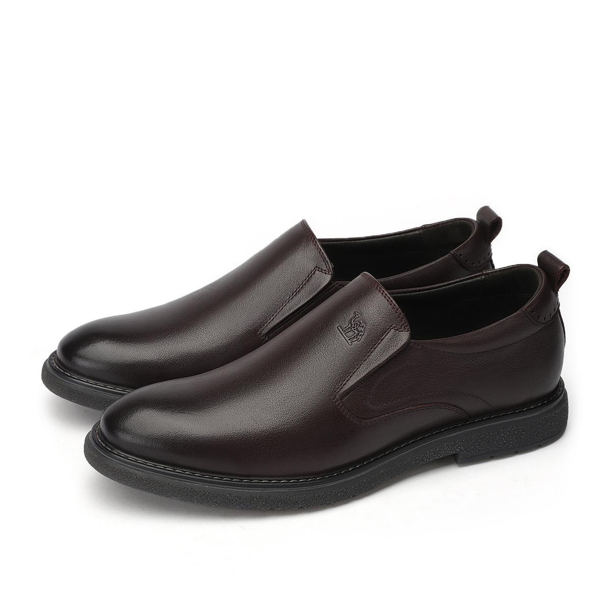 骆驼皮鞋男商务正装皮鞋真皮一脚套耐磨软底休闲皮鞋90826538932540ZO