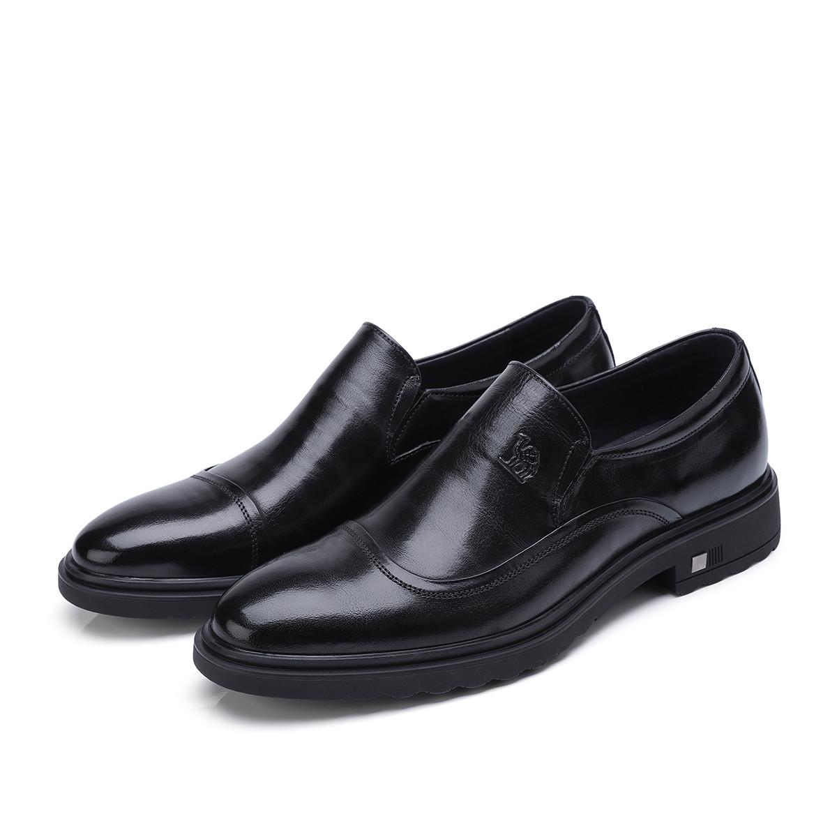 骆驼皮鞋男商务正装鞋英伦时尚透气耐磨牛皮鞋90918343832760HE