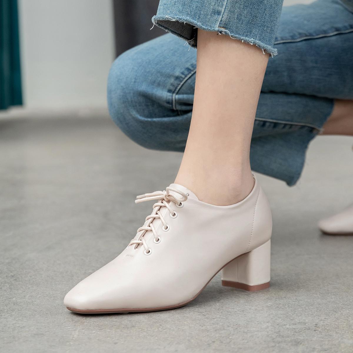 艾米娜【专柜清仓】艾米娜头层牛皮女鞋女单鞋女高跟鞋女士皮鞋商务A