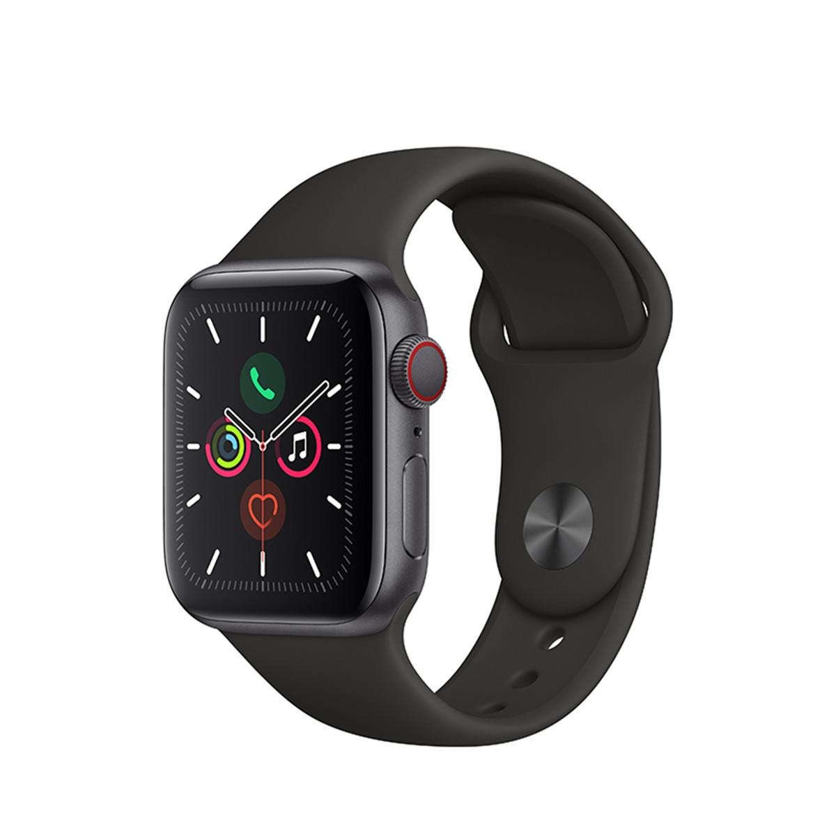 苹果Apple Watch Series 5智能手表 44mmAppleWatchS5-44mm-深空灰表壳-黑色表带