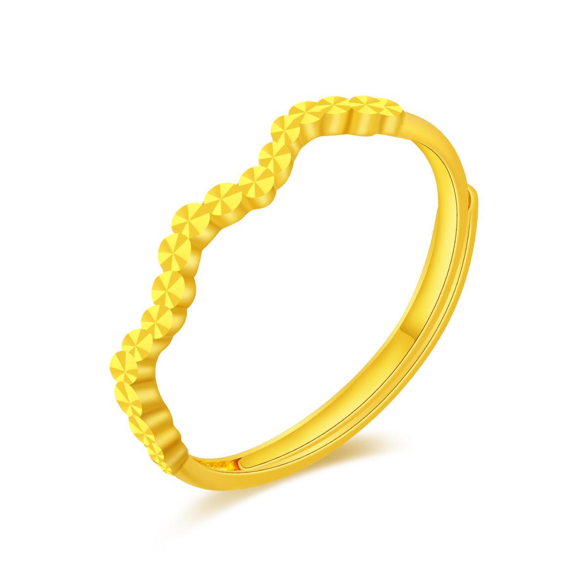 翠绿翠绿 足金仿钻女士黄金戒指A01000021395