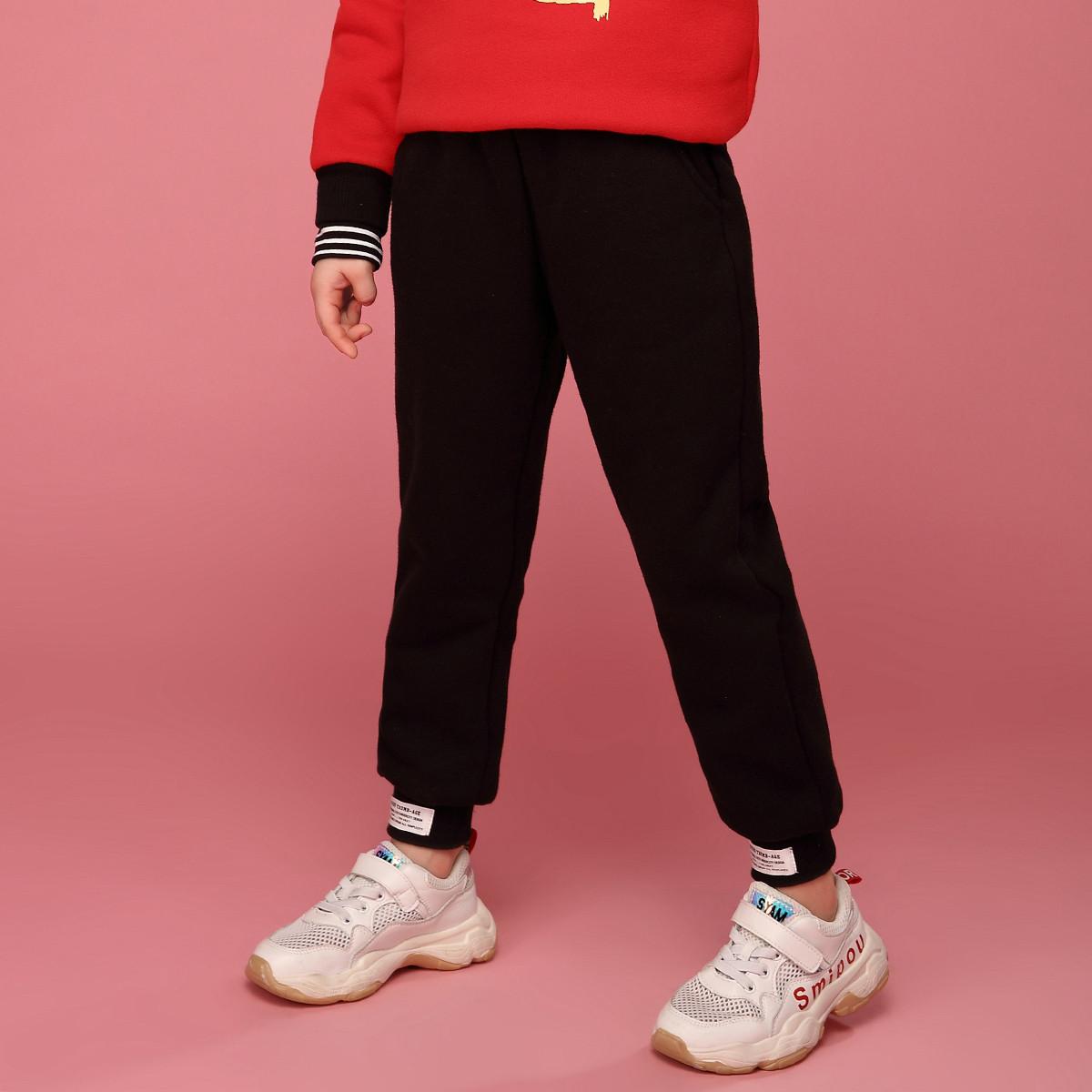 米奇丁当女童舒适休闲裤2019冬季新款中大童时尚运动裤儿童长裤119402161008