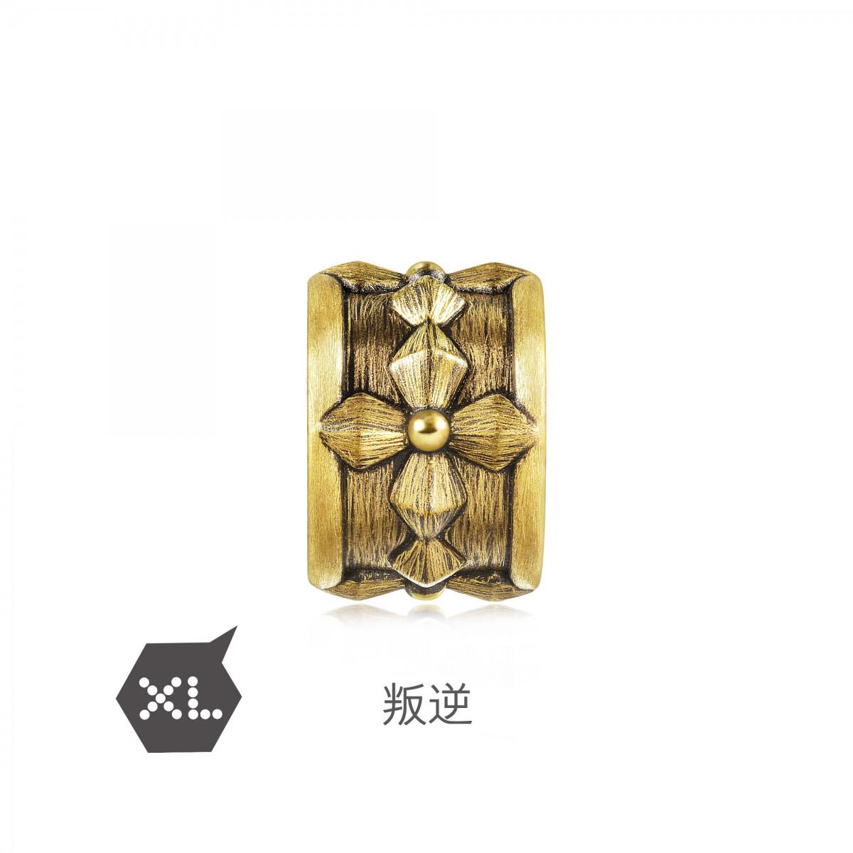 周生生【白敬亭代言】周生生叛逆XL黄金转运珠(配绳需另购)90393CB000001如图