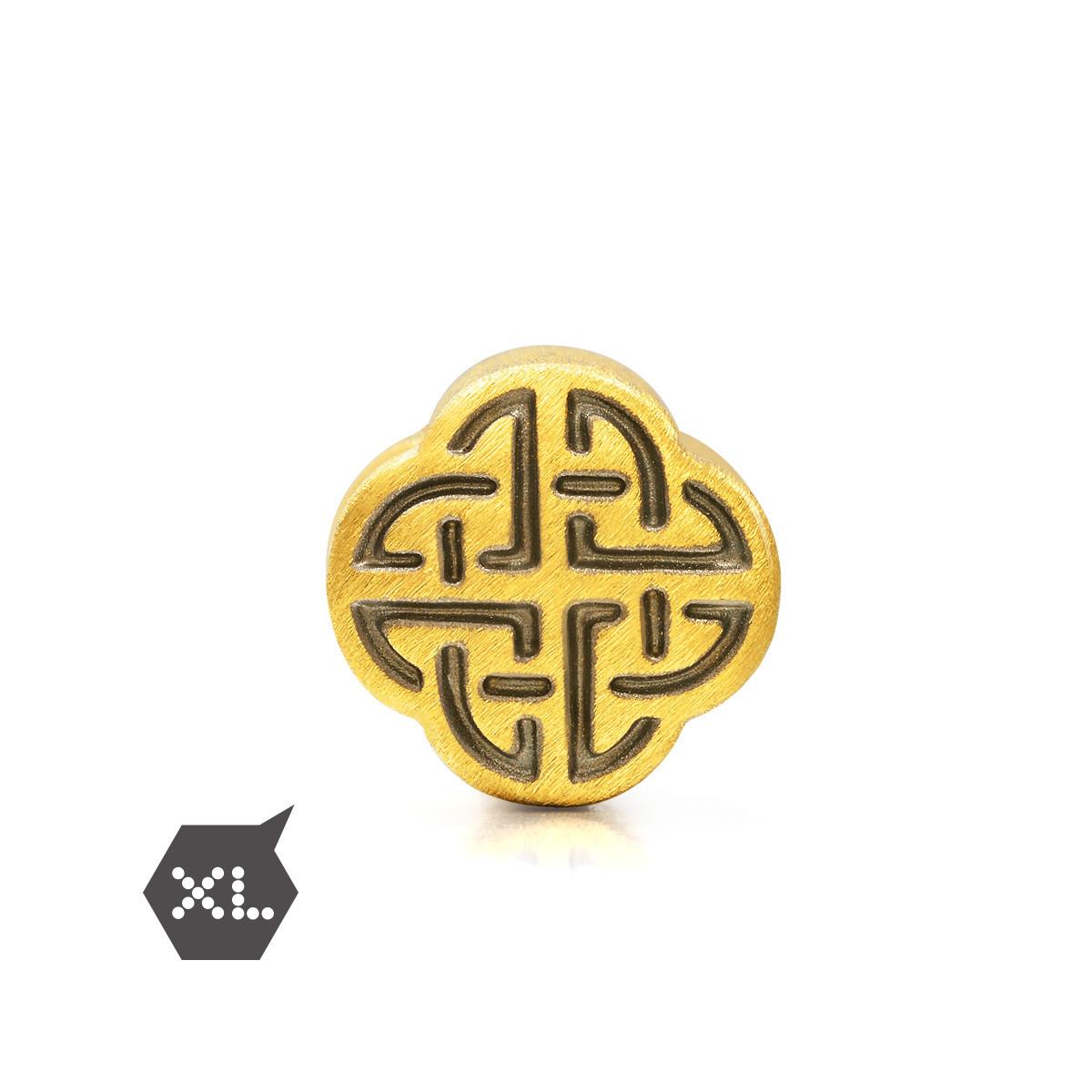 周生生【白敬亭代言】周生生黄金Charme和谐转运珠(配绳需另购)B86521p如图