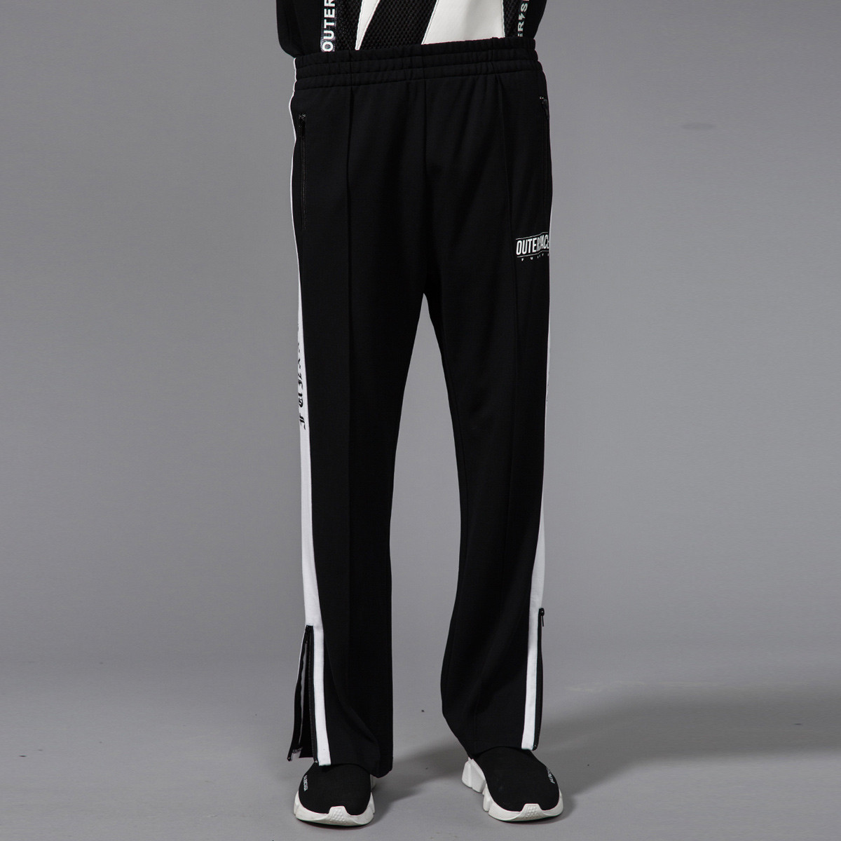 funFUN SPACE太空系列潮搭 男式裤针织长裤OK57666B0黑色