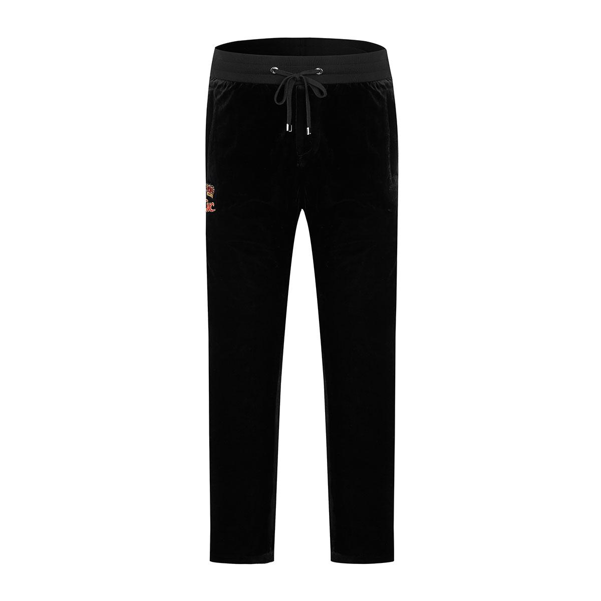 C#039N#039CCaposNaposC男式简约皇冠字母图案舒适系带休闲裤8110393051-01