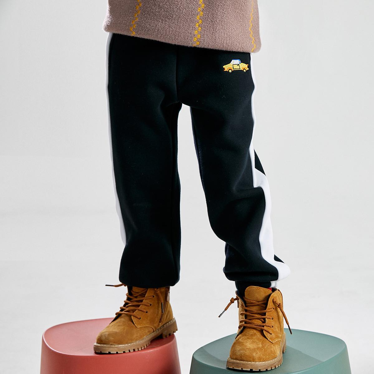 小猪班纳小猪班纳童装2019新款男童裤子童针织长裤加厚款259331032D486