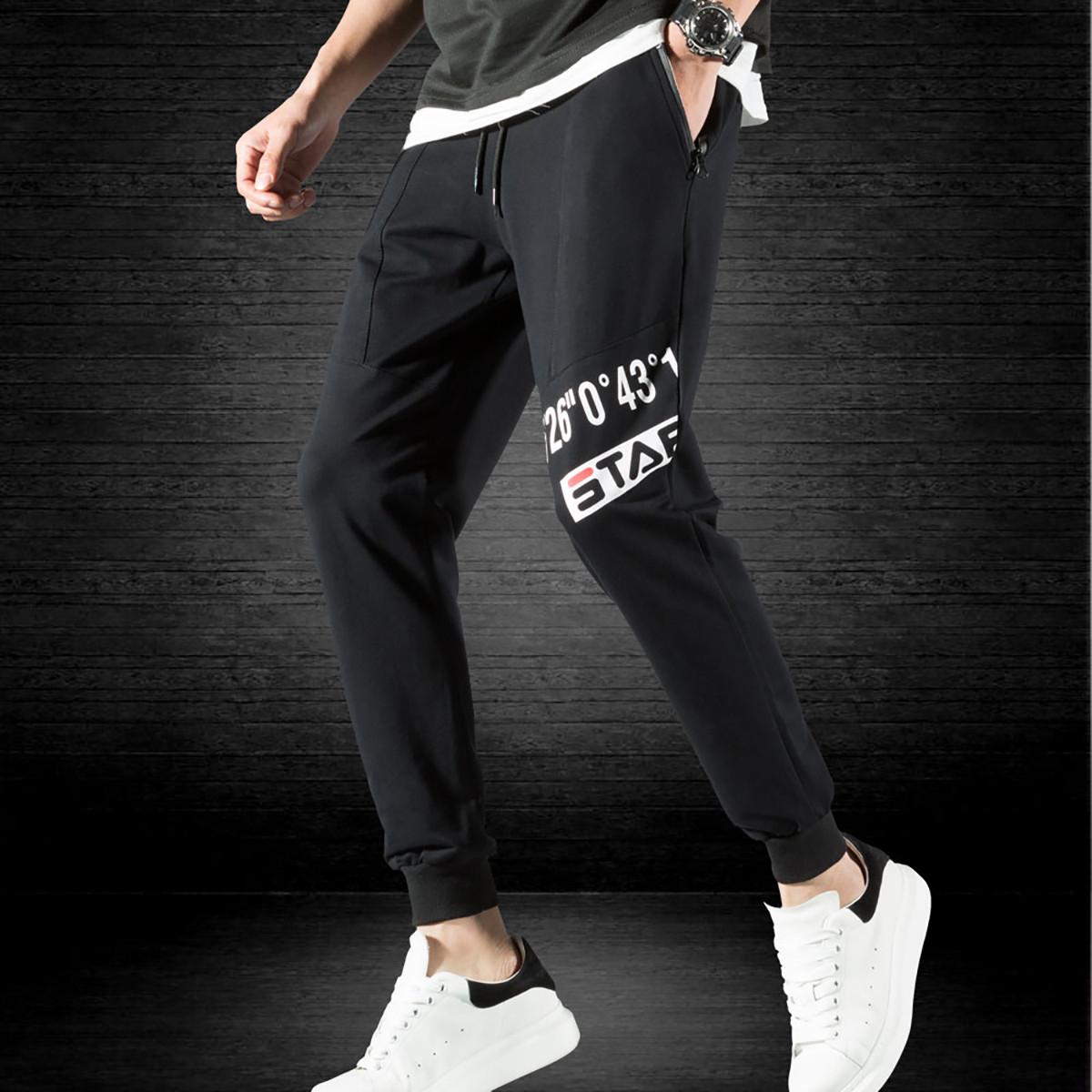 May Bear男士裤子休闲裤拉链口袋束脚裤工装裤子男新款休闲裤BM29126-1-701