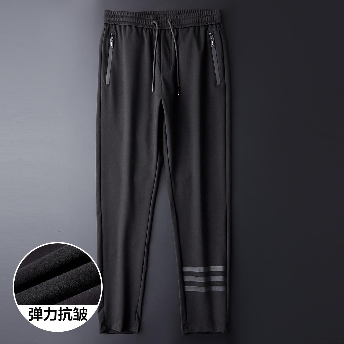 法派新款男士商务百搭顺滑透气休闲裤男式裤子男式休闲裤X2A1293Y01