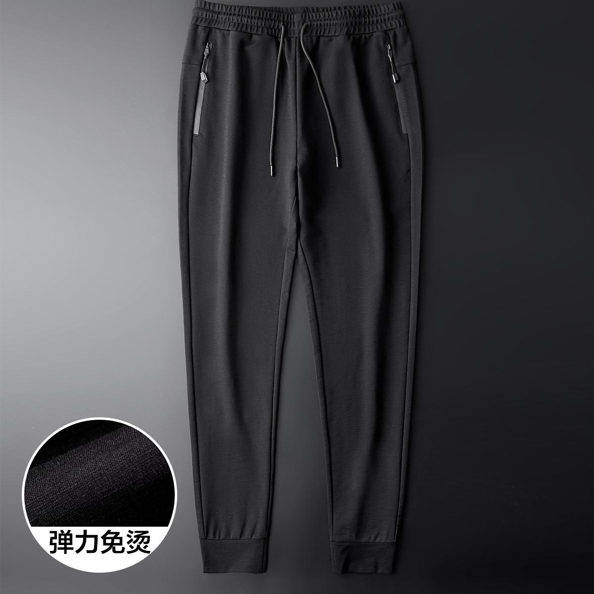 法派新款男士时尚都市休闲裤舒适抗皱休闲裤男式休闲裤X2A0393C01