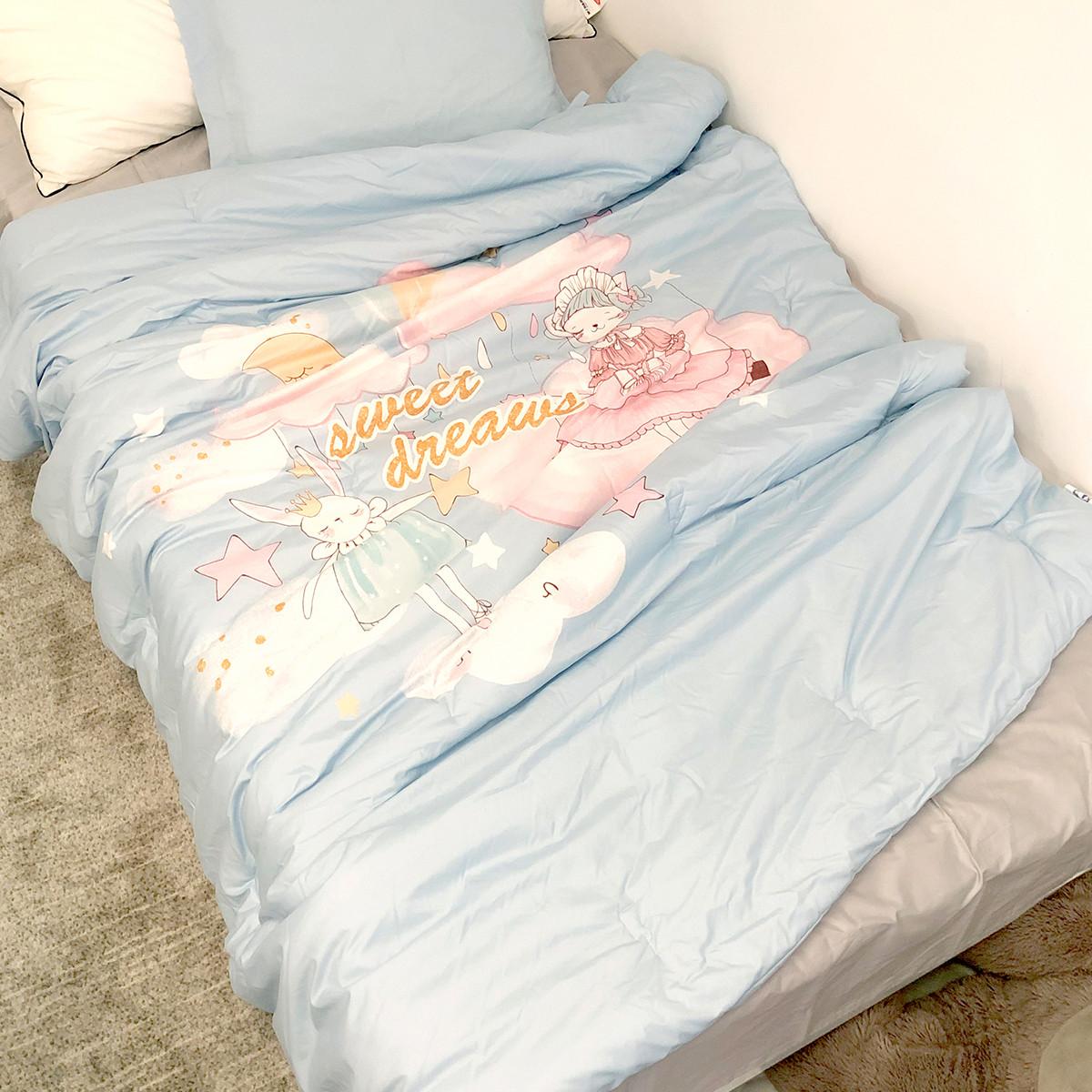 梦洁宝贝幼儿园纯棉空调被儿童床品全棉四季被学生薄被子482134