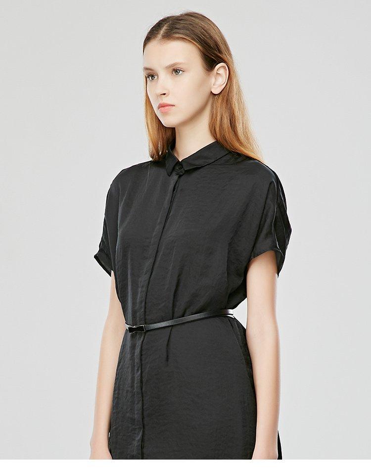 直身廓形感衬衫连衣裙
