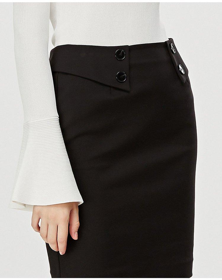 裙黑�_经典包臀裙纯黑